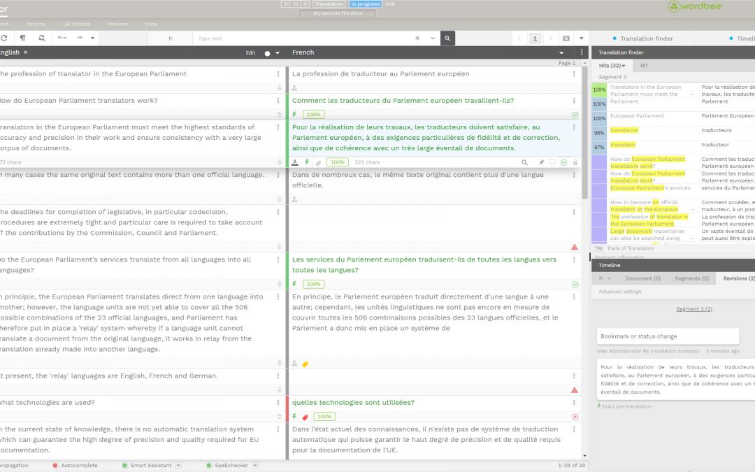 Discover Wordbee's Translation Editor